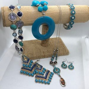 Blue themed fashion jewelry bundle- grab bag